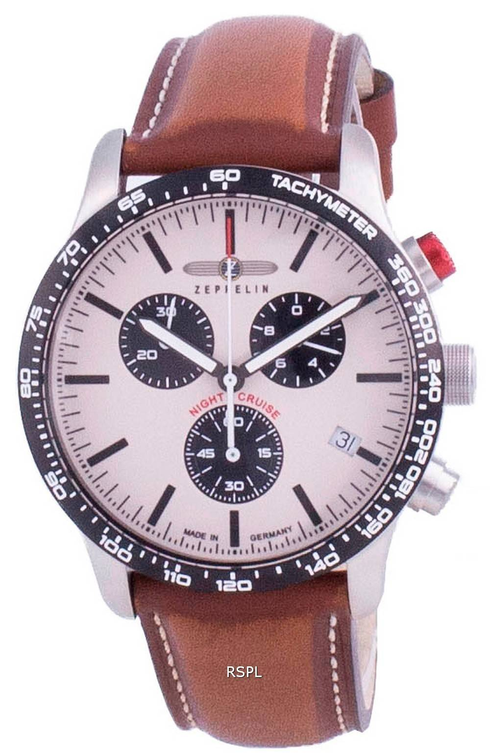 Zeppelin Night Cruise Chronograph Quarz 7296-1 72961 100M Herrenuhr