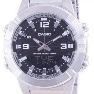 Casio analoginen digitaalinen maailman aika ruostumaton teräs AMW-870D-1A AMW870D-1 miesten kello