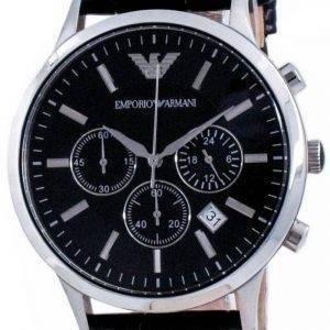 Emporio Armani Renato Classic Chronograph Quartz Black Dial AR2447 miesten kello