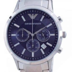 Emporio Armani Renato Classic Chronograph Blue Dial Quartz AR2448 miesten kello