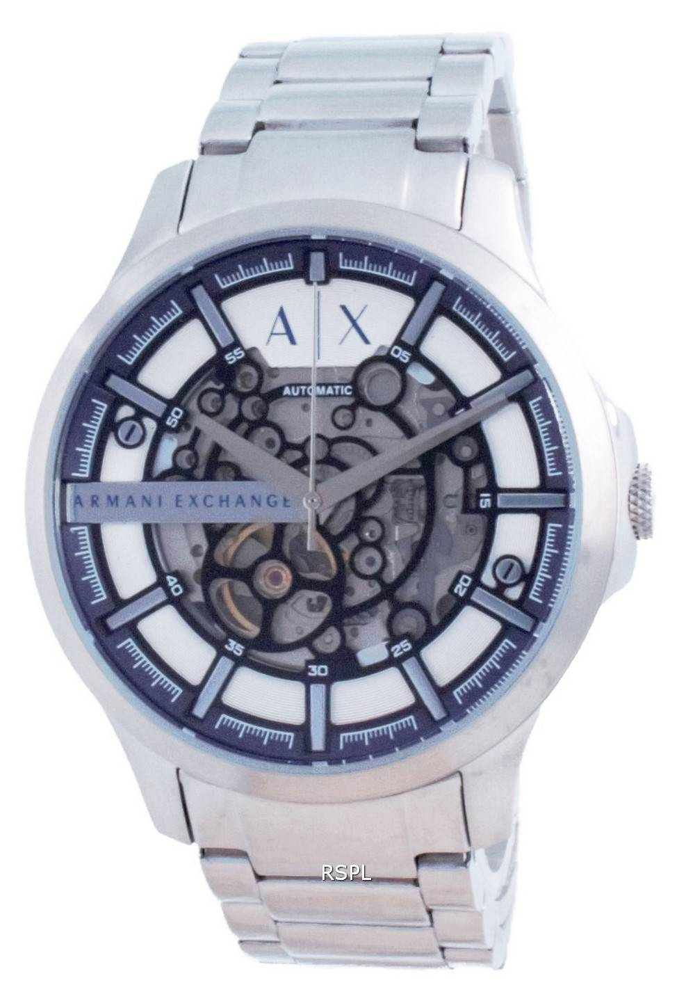 Armani Exchange Hampton luuranko ruostumaton teräs automaattinen AX2416 miesten kello