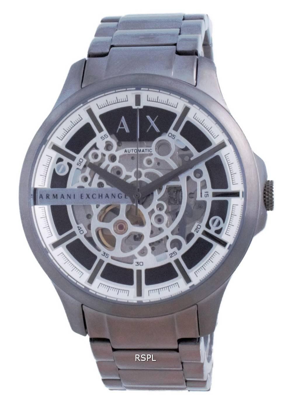 Armani Exchange Hampton luuranko ruostumaton teräs automaattinen AX2417 miesten kello