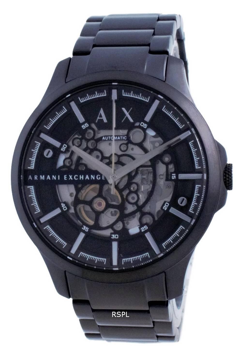 Armani Exchange Hampton Luuranko Ruostumaton Teräs Automaattinen AX2418 miesten kello