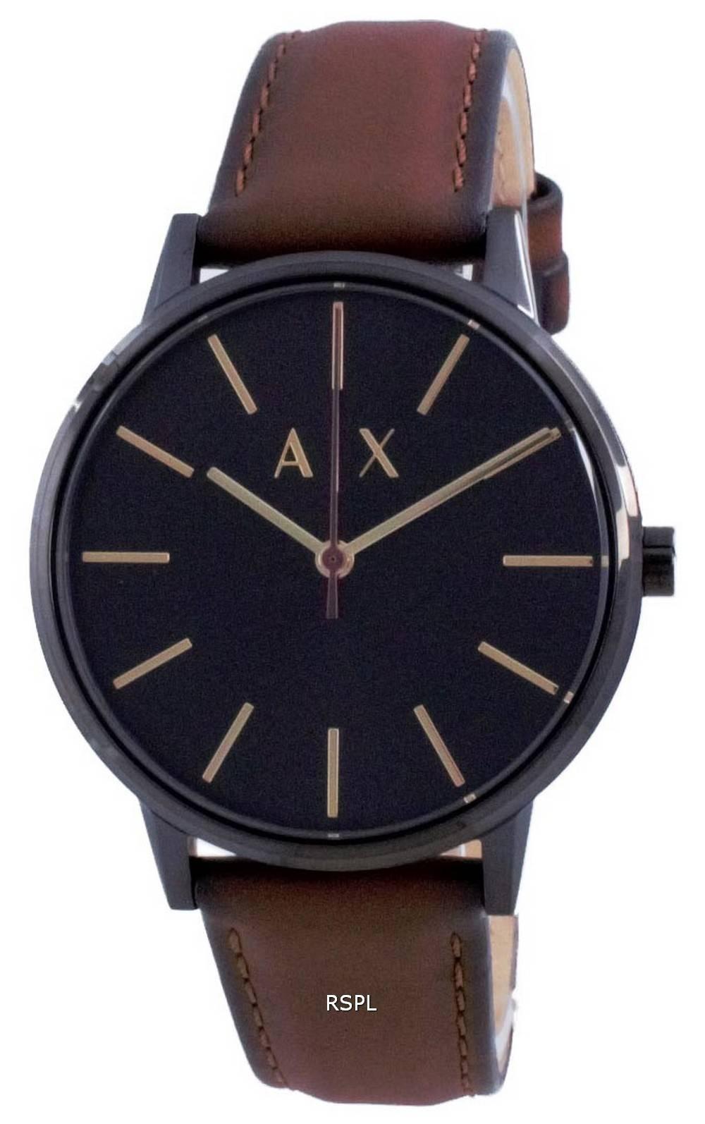 Armani Exchange Cayde musta soittaa kvartsi AX2706 miesten kello