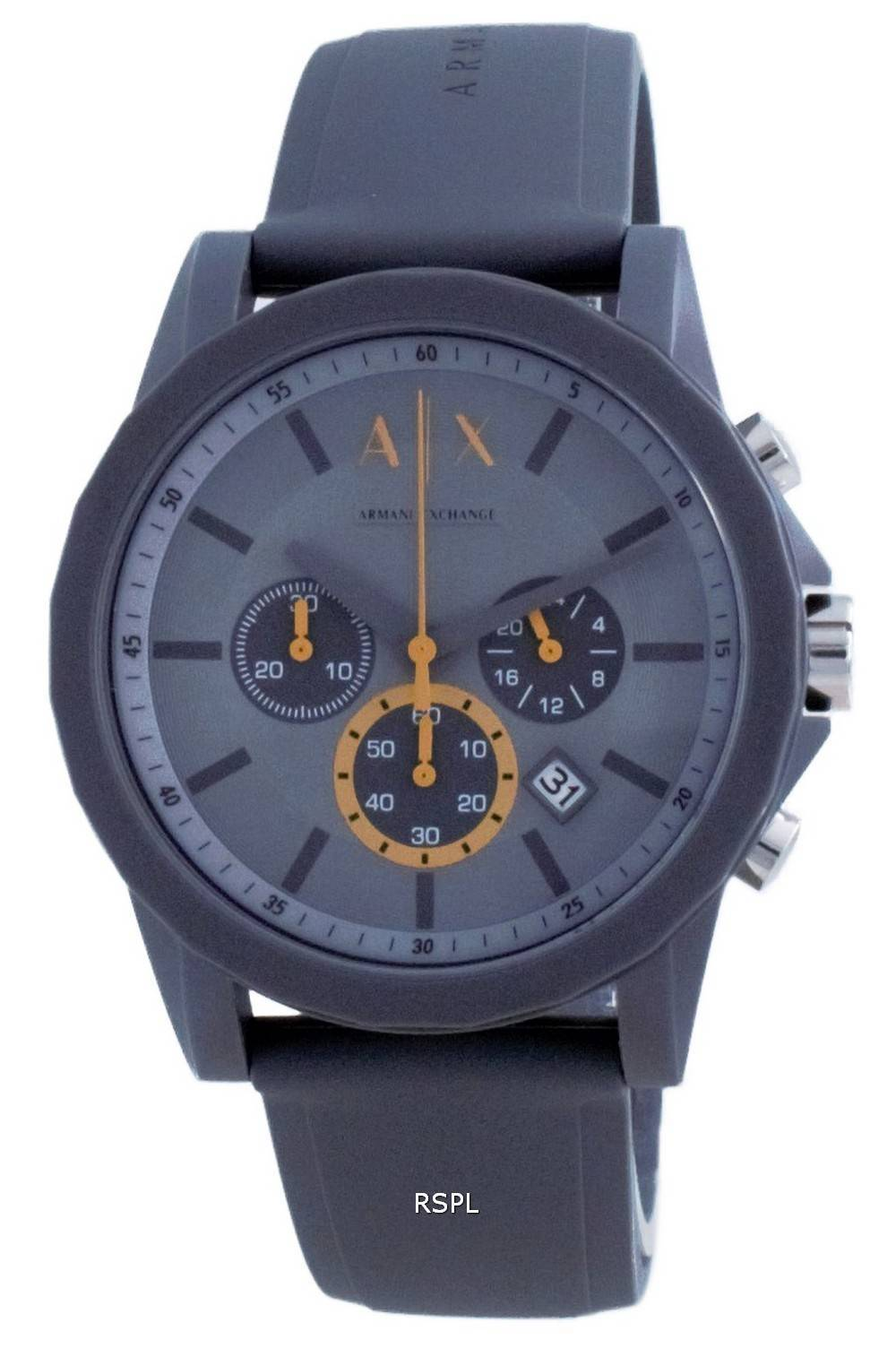 Armani Exchange Chronograph silikonikvartsi AX7123 miesten kello