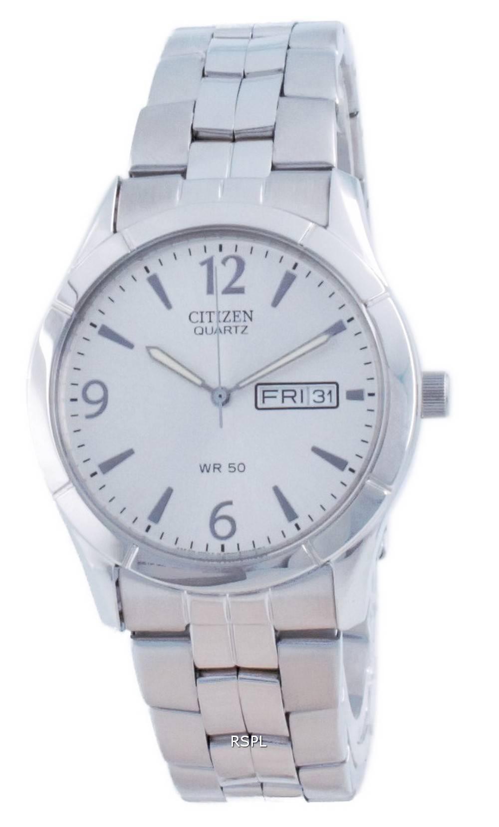 Citizen Classic Silver Dial ruostumattomasta teräksestä valmistettu kvartsi BK3830-51A miesten kello