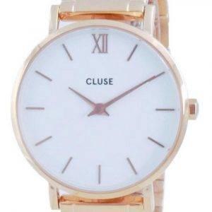 Cluse Minuit 3-Link White Dial Rose Gold Tone ruostumaton teräs kvartsi CW0101203027 naisten kello