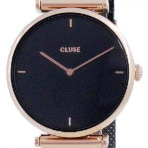 Cluse Triomphe Black Dial kaksisävyinen ruostumaton teräs kvartsi CW0101208005 naisten kello