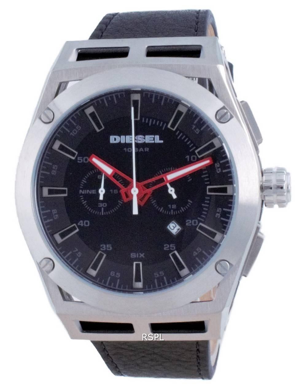 Diesel Timeframe Chronograph nahka kvartsi DZ4543 100M miesten kello