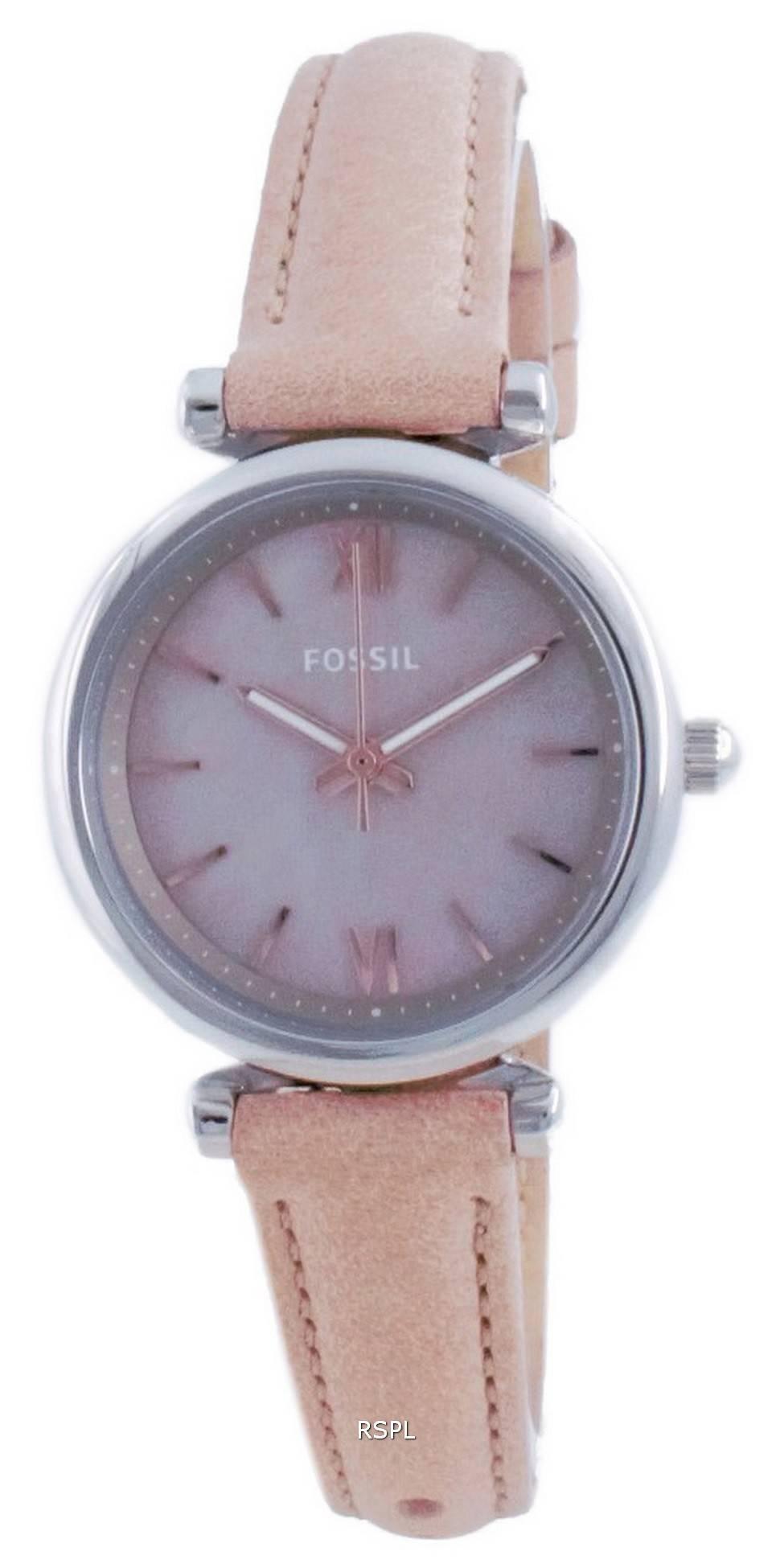 Fossil Carlie Mini Pearl Dial nahka kvartsi ES4530 naisten kello