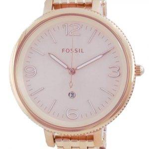 Fossil Monroe Rose Gold ruostumaton teräs kvartsi ES4946 naisten kello