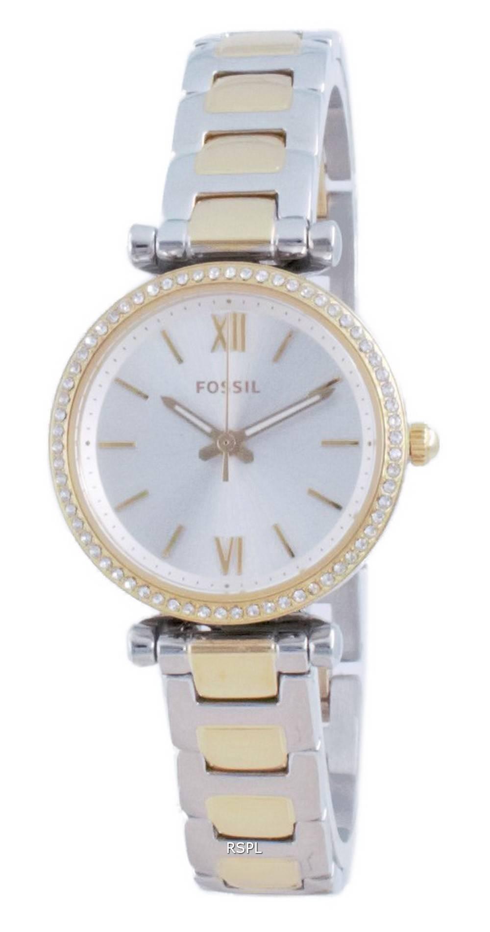 Fossil Carlie Mini Diamond aksentti kvartsi ES4955 naisten kello