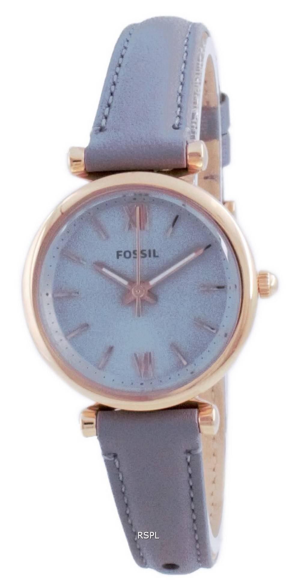 Fossil Carlie Mini Harmaa Dial nahka kvartsi ES5068 naisten kello