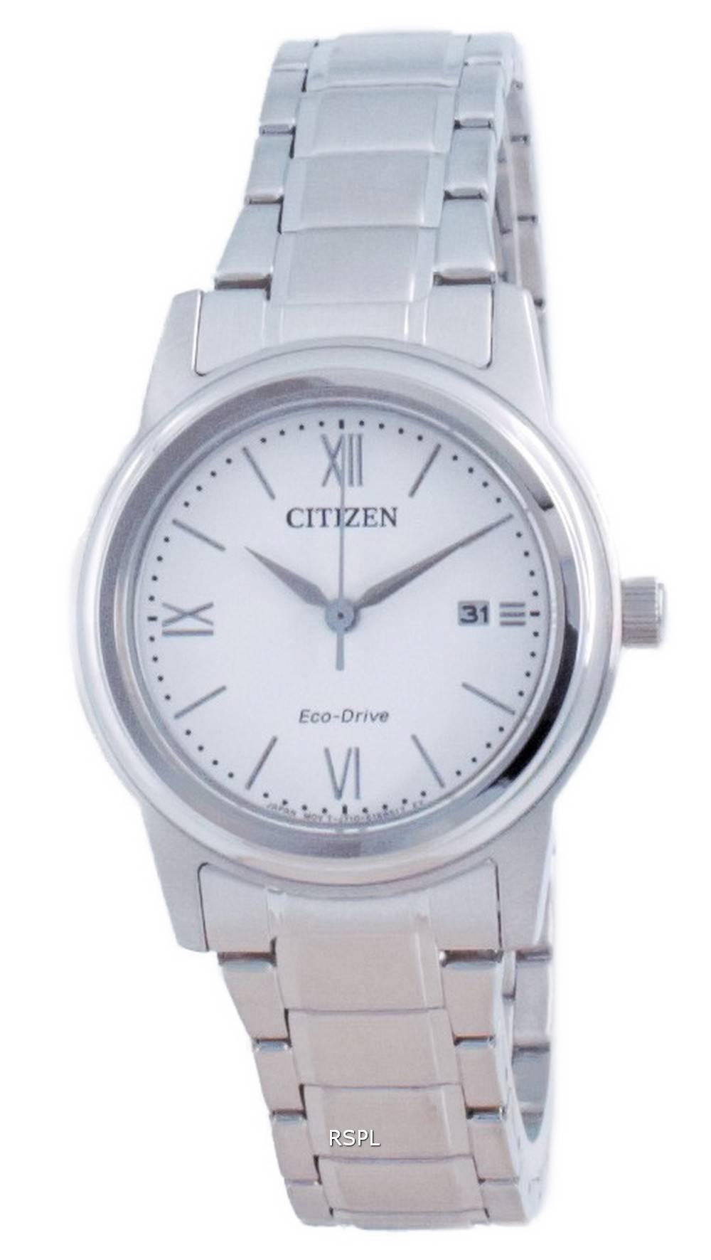 Citizen Classic White Dial ruostumaton teräs Eco-Drive FE1220-89A 100M naisten kello