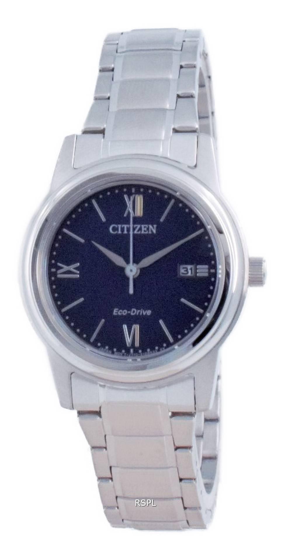 Citizen Classic Blue Dial ruostumaton teräs Eco-Drive FE1220-89L 100M naisten kello