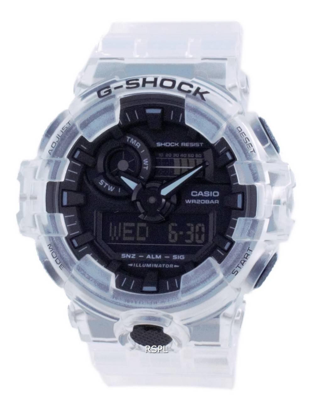 Casio G-Shock läpinäkyvä pakkaus analoginen digitaalinen kvartsisukeltajan GA-700SKE-7A GA700SKE-7 200M miesten kello