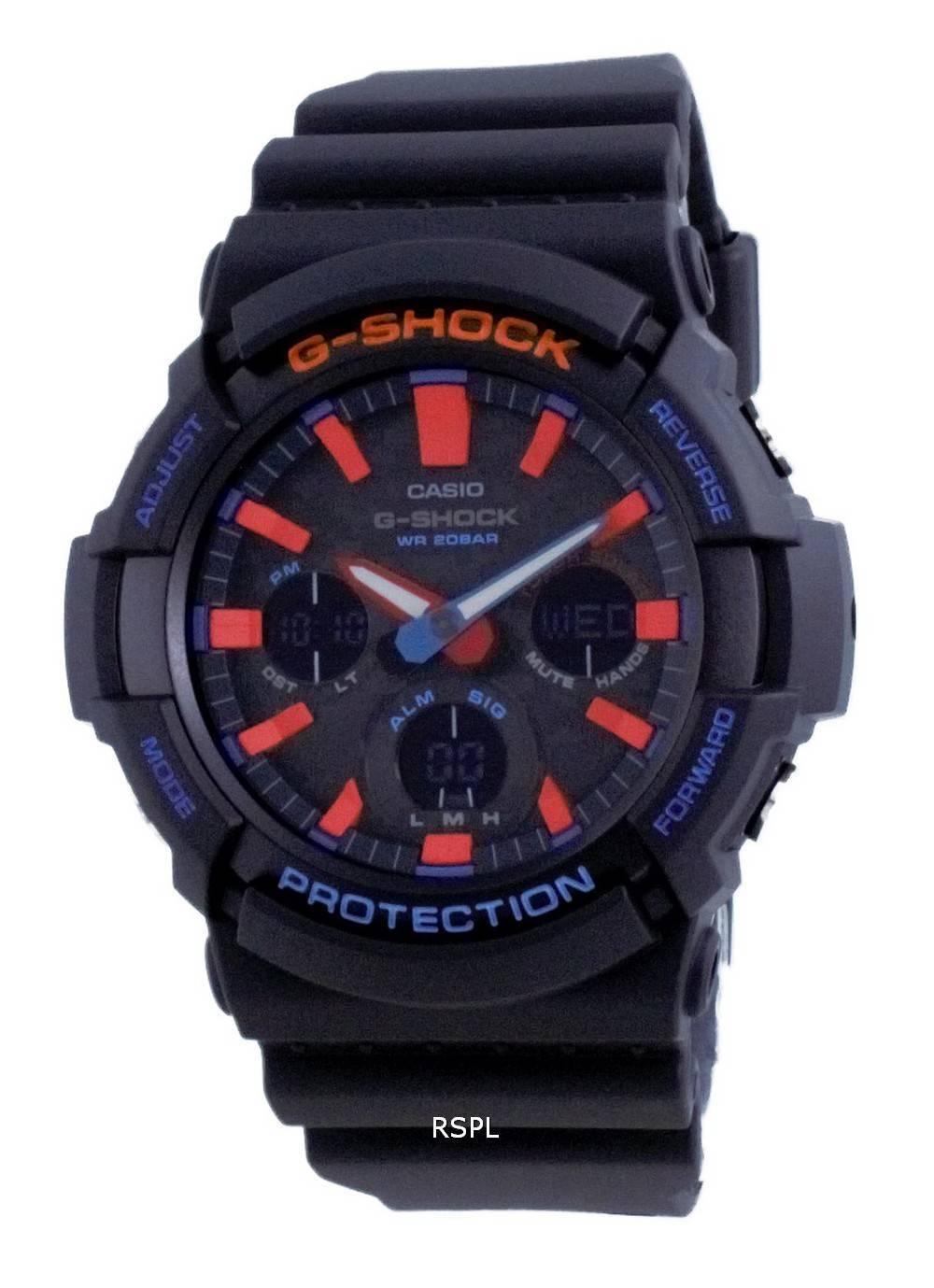 Casio G-Shock City analoginen digitaalinen kova aurinkosukeltajan Eco-Drive GAS-100CT-1A GAS100CT-1 200M miesten kello
