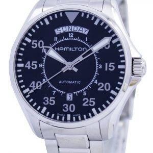 Hamilton-lentäjän päiväpäiväilmailun automaattinen H64615135 miesten kello