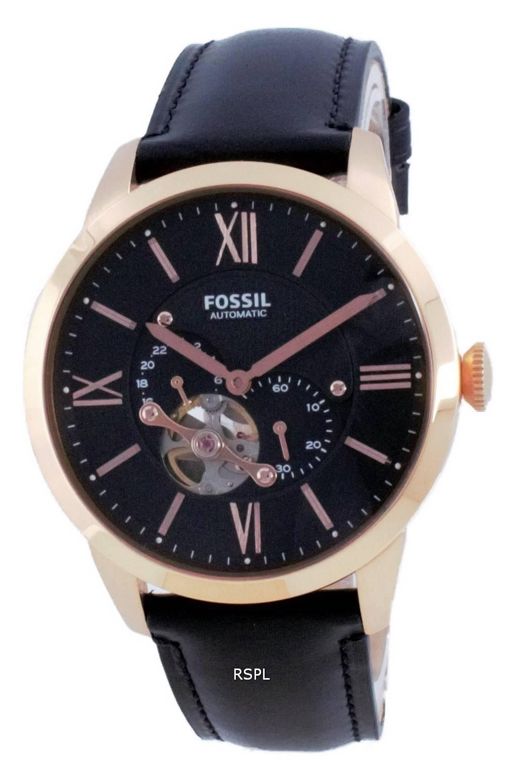 Fossil Townsman Chronograph avoimen sydämen automaattinen ME3170 miesten kello