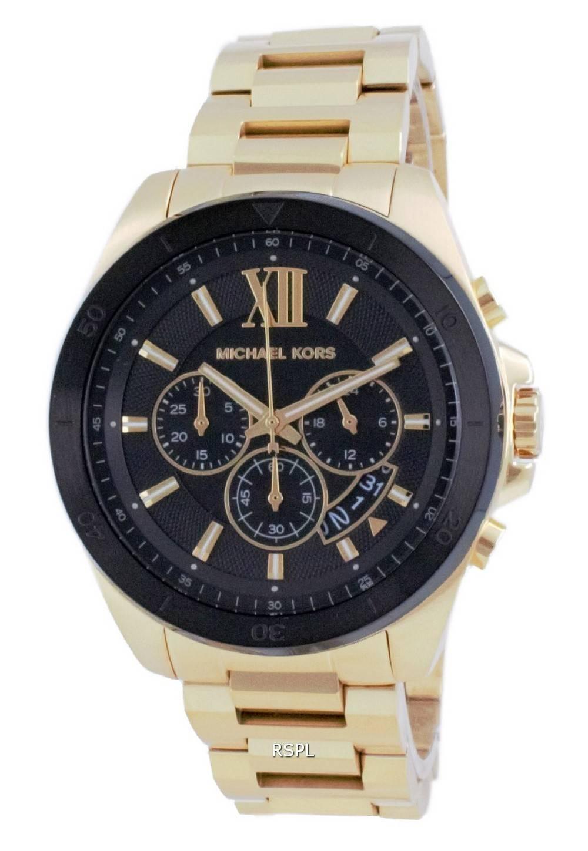 Michael Kors Brecken Chronograph Gold Tone Quartz MK8848 miesten kello