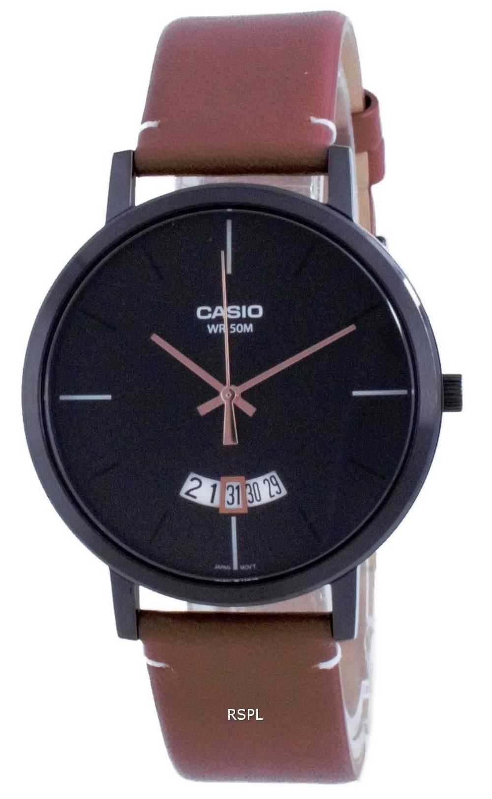 Casio Classic analoginen nahka kvartsi MTP-B100BL-1E MTPB100BL-1E miesten kello