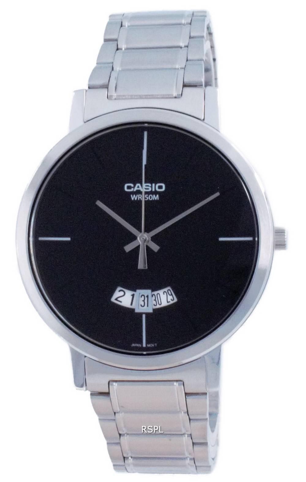Casio Classic analoginen ruostumaton teräs kvartsi MTP-B100D-1E MTPB100D-1E miesten kello