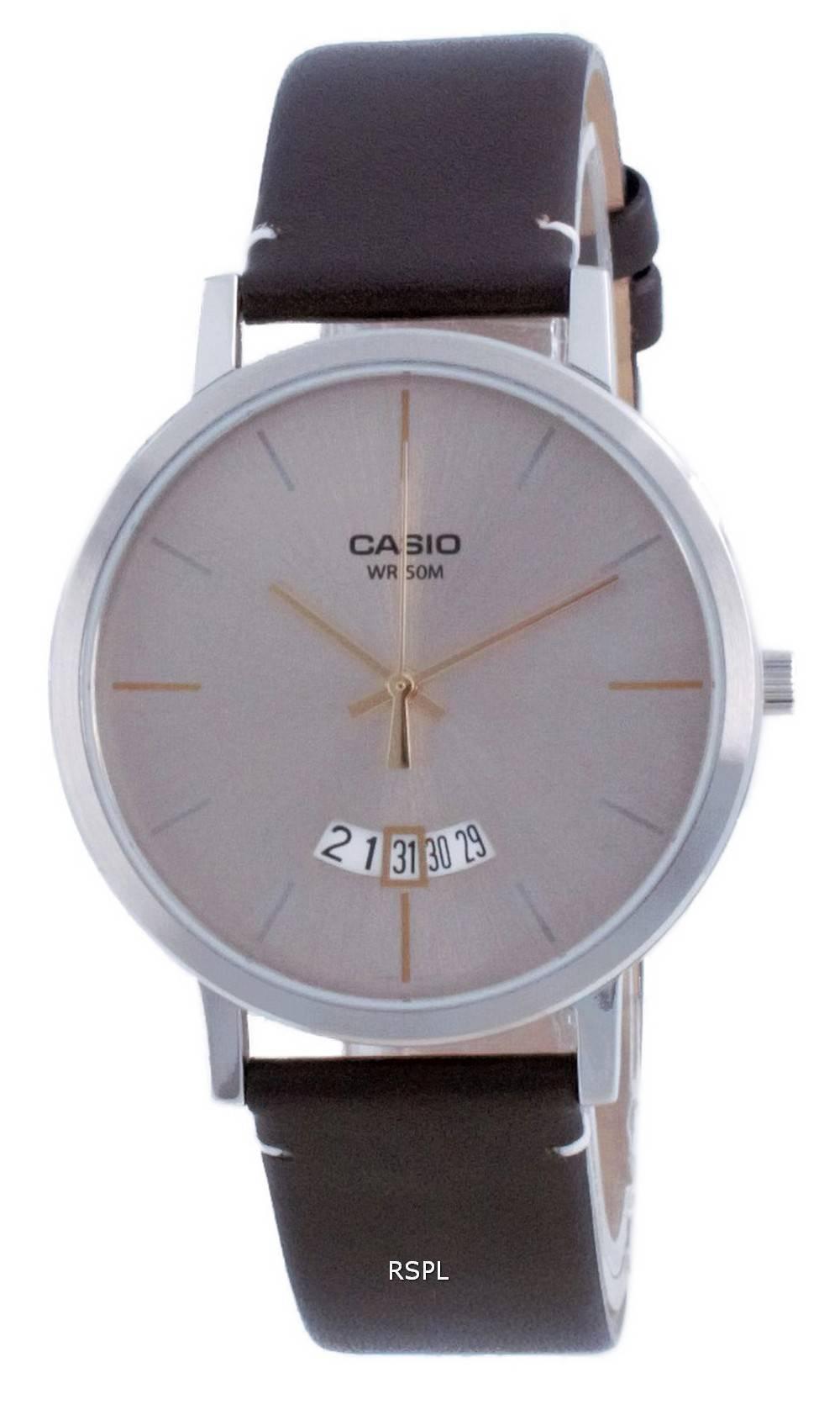 Casio Classic analoginen nahka kvartsi MTP-B100L-9E MTPB100L-9E miesten kello