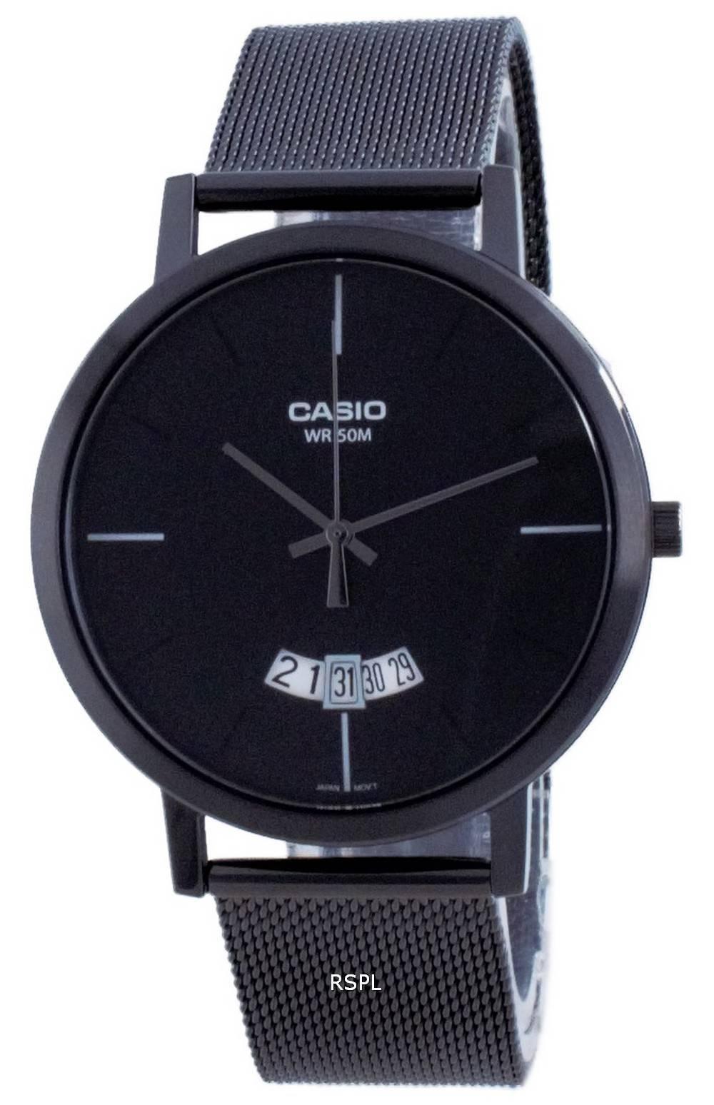 Casio Classic analoginen ruostumaton teräsverkko kvartsi MTP-B100MB-1E MTPB100MB-1E miesten kello