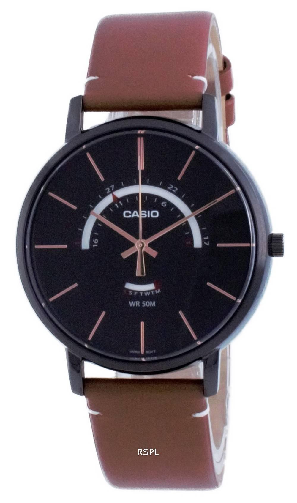 Casio Classic analoginen nahka kvartsi MTP-B105BL-1A MTPB105BL-1 miesten kello