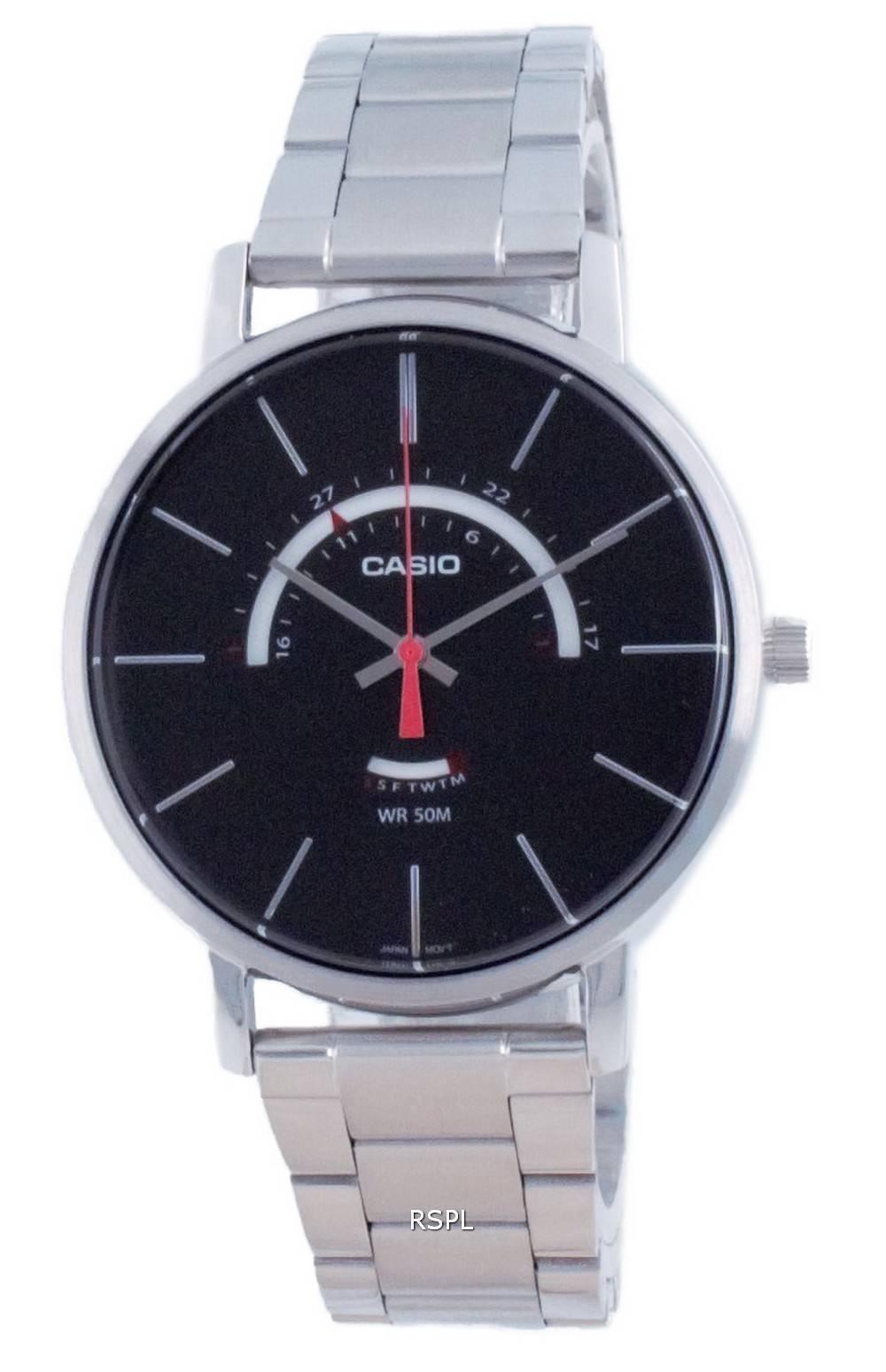 Casio Classic analoginen ruostumaton teräs kvartsi MTP-B105D-1A MTPB105D-1 miesten kello