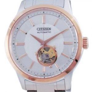 Citizen mekaaninen avoin sydän ruostumaton teräs NB4024-95A 100M miesten kello