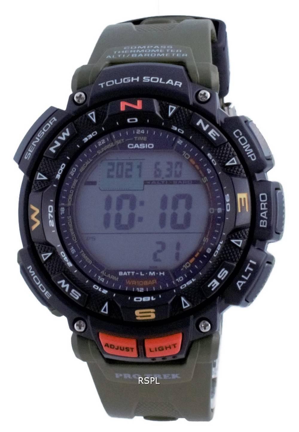 Casio Protrek kova aurinkoinen digitaalikompassi PRG-240-3 PRG240-3 100M miesten kello