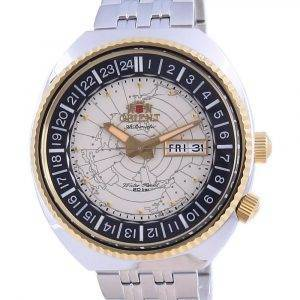 Orient World Map Revival ruostumattomasta teräksestä valmistetun automaattisen sukeltajan RA-AA0E01S19B 200M miesten kello