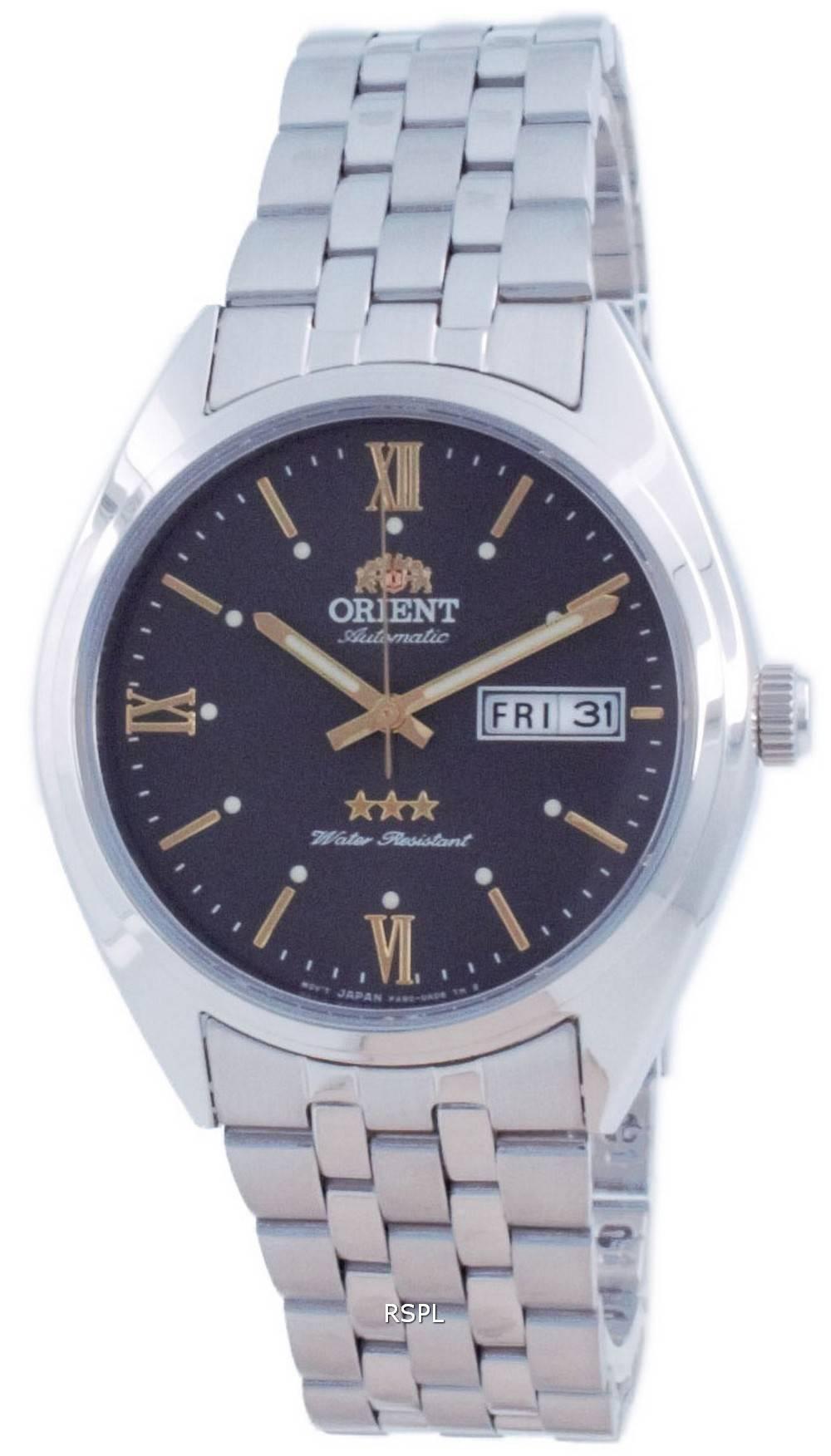 Orient Tri Star harmaa soittaa ruostumatonta terästä automaattinen RA-AB0E14N19B miesten kello