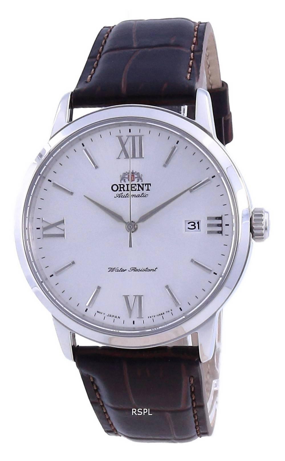 Orient Contemporary White Dial Leather Automatic RA-AC0F12S10B miesten kello