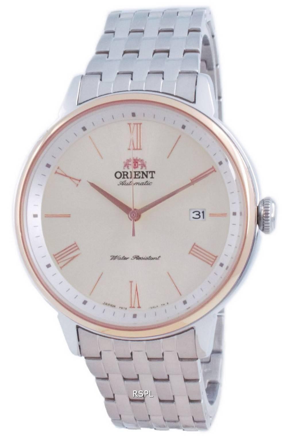 Orient nykyaikainen automaattinen samppanjavalitsin RA-AC0J01S00C miesten kello