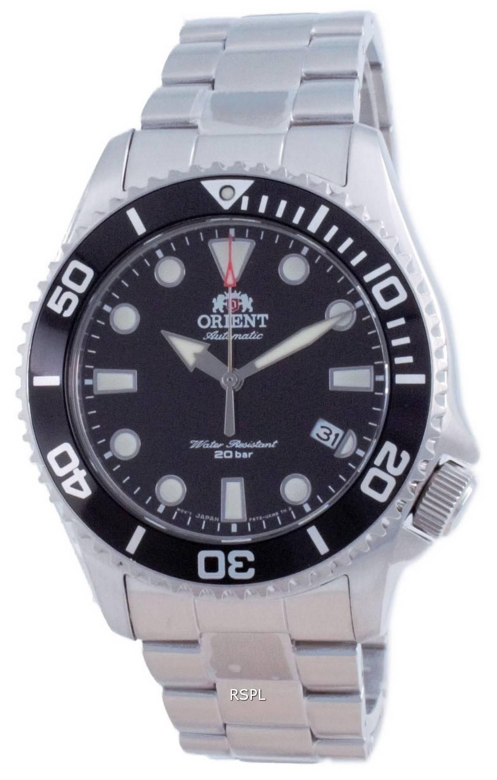 Orient 70-vuotispäivän automaattinen sukeltajan musta soittaa RA-AC0K01B00C 200M miesten kello