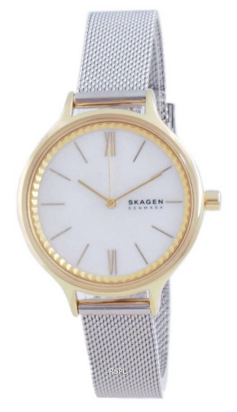 Skagen Anita kultasävy ruostumattomasta teräksestä valmistettu kvartsi SKW2866 naisten kello