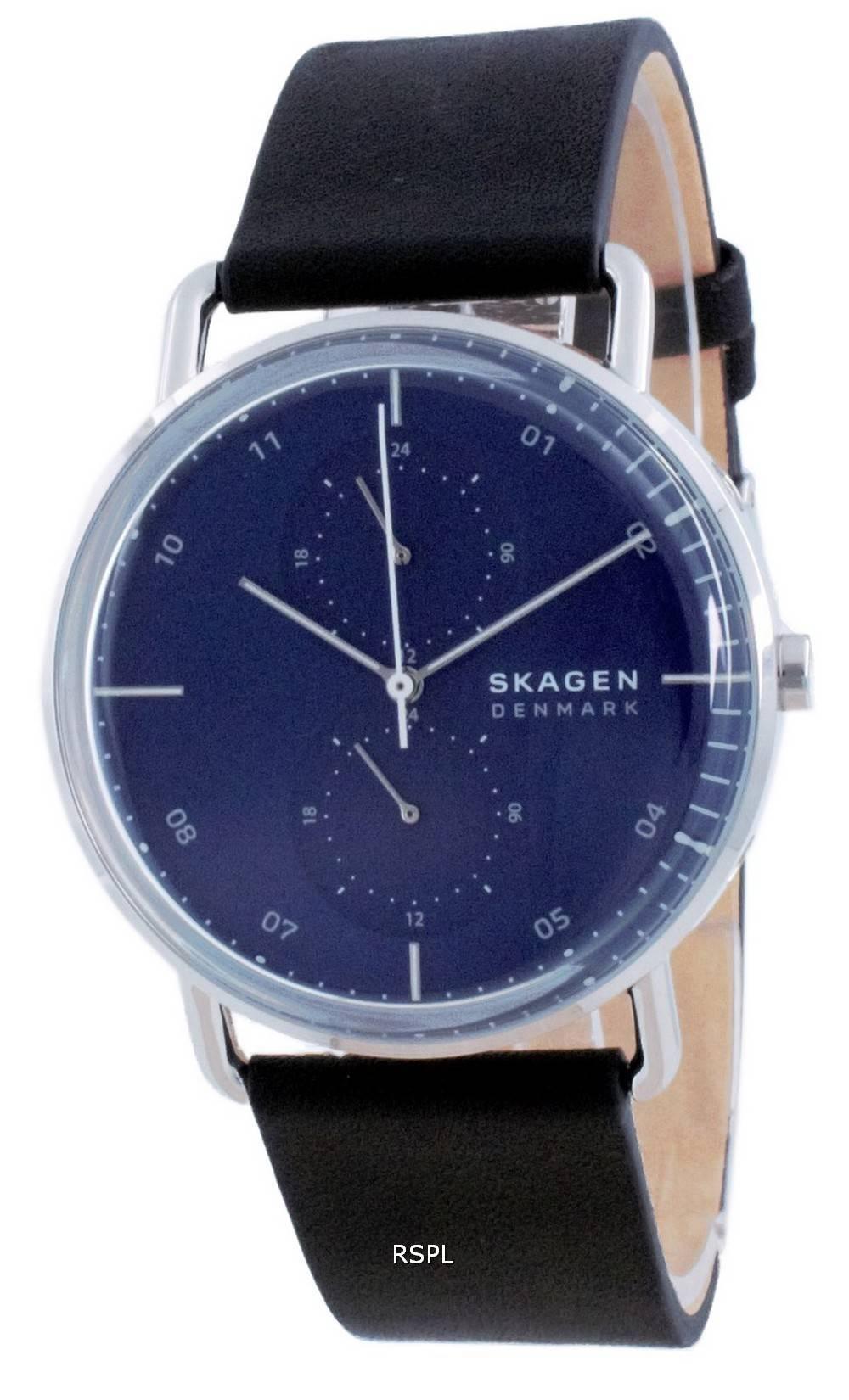 Skagen Horizont Blue Dial nahka kvartsi SKW6702 miesten kello