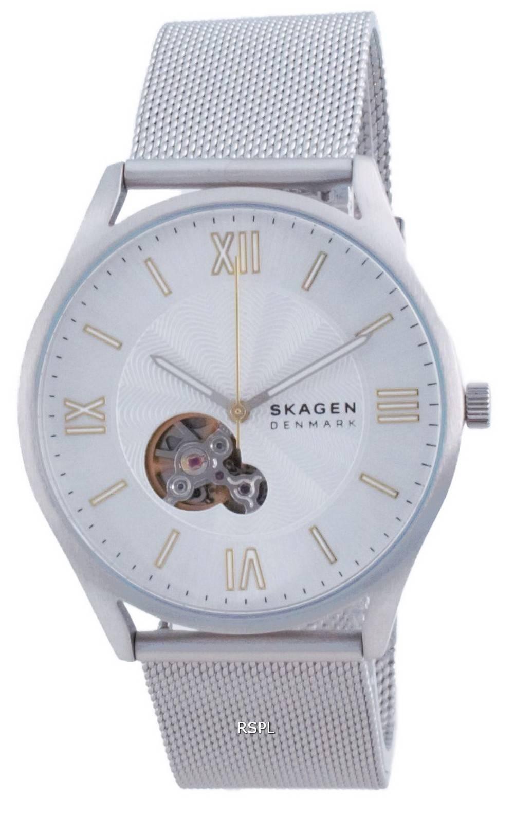 Skagen Holst avoimen sydämen ruostumattomasta teräksestä valmistettu automaattinen SKW6711 miesten kello