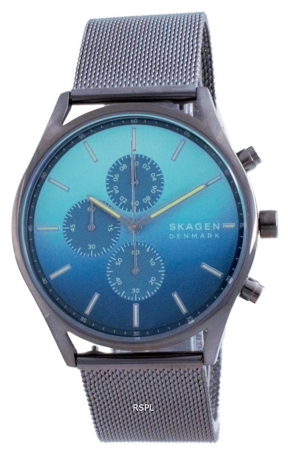 Skagen Holst Chronograph Blue Dial Quartz SKW6734 miesten kello
