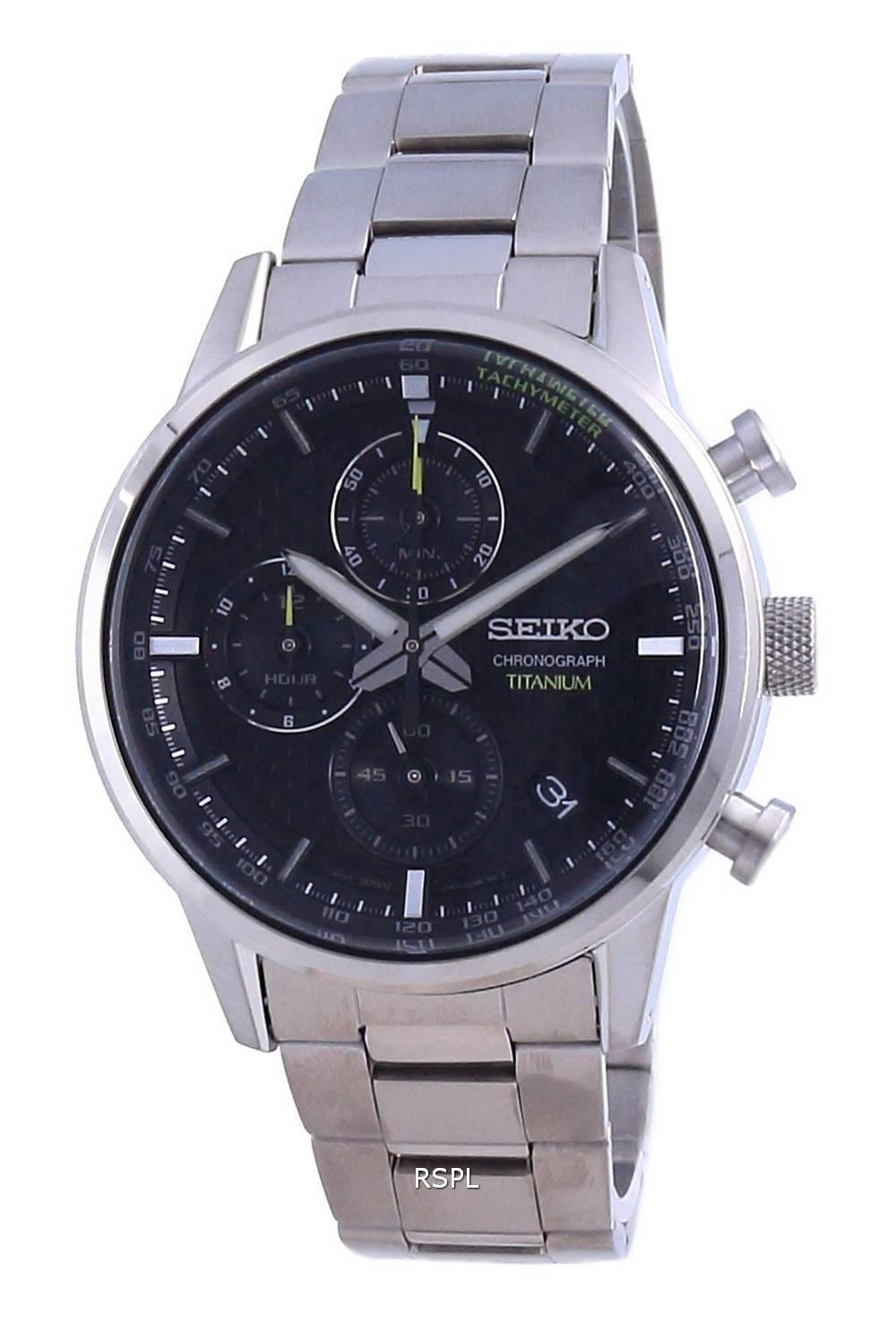 Seiko Discover More Titanium Chronograph Quartz SSB389 SSB389P1 SSB389P 100M miesten kello