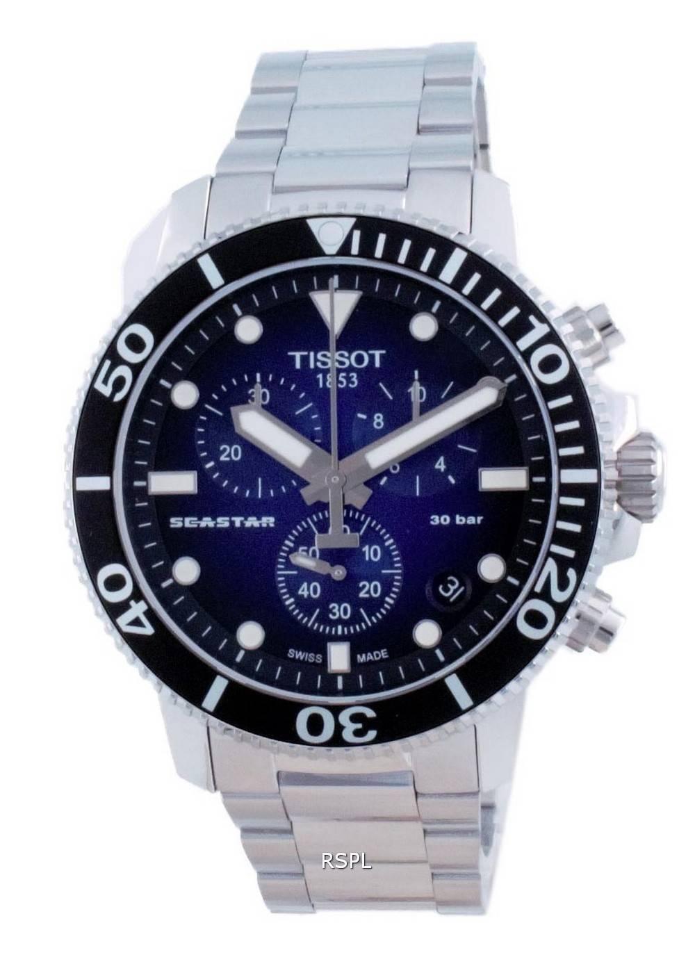 Tissot T-Sport Seastar 1000 Chronograph Quartz Diver&#39,s T120.417.11.041.01 T1204171104101 300M miesten kello