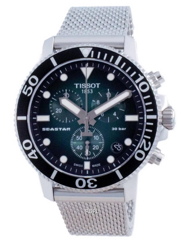 Tissot T-Sport Seastar 1000 Chronograph Diver&#39,s Quartz T120.417.11.091.00 T1204171109100 300M miesten kello