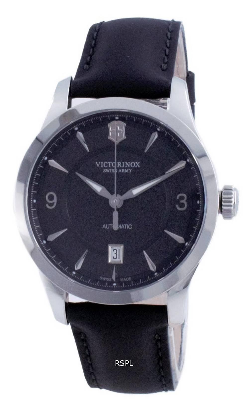 Victorinox Alliance Sveitsin armeijan musta kellotaulu 241869 100M miesten kello