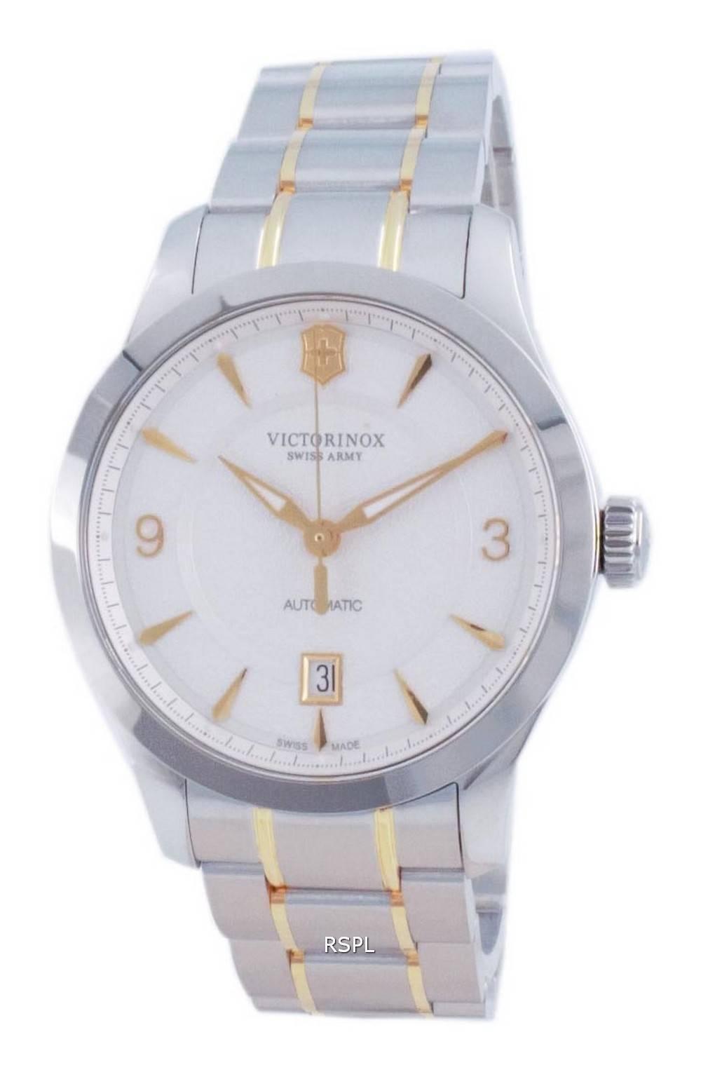 Victorinox Alliance Sveitsin armeijan valkoinen soittaa automaattinen 241874 100M miesten kello