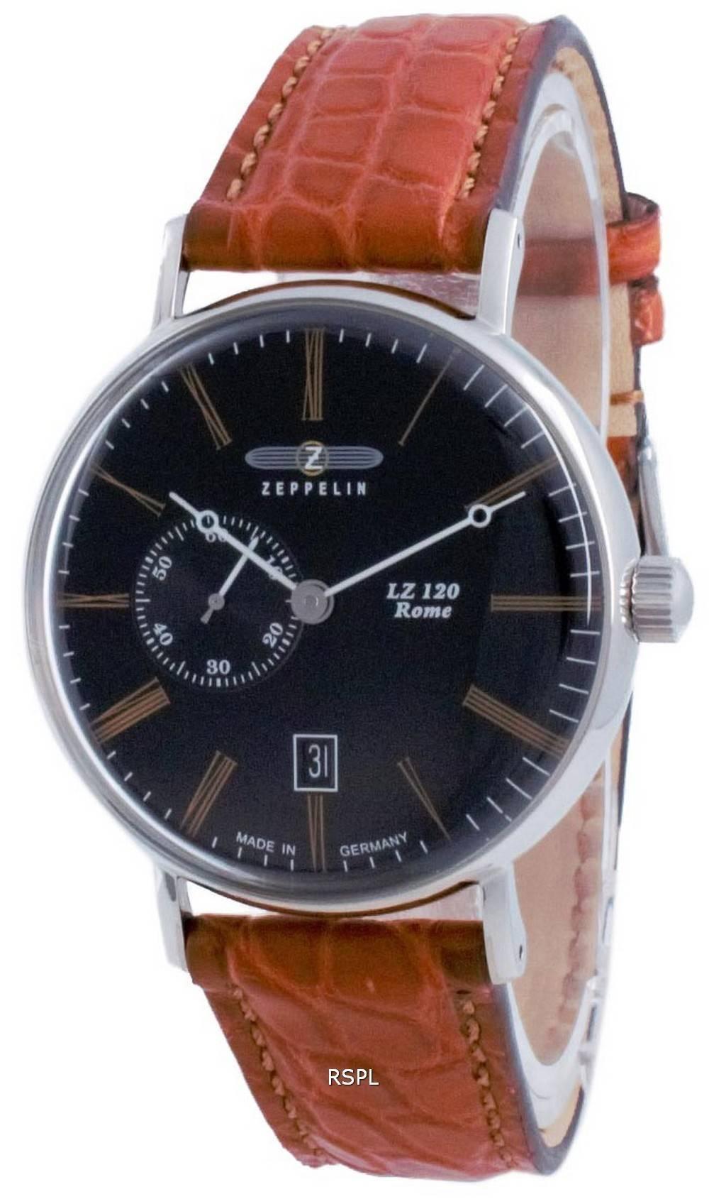 Zeppelin LZ120 Rome Black Dial Automatic 7104-2 71042 miesten kello