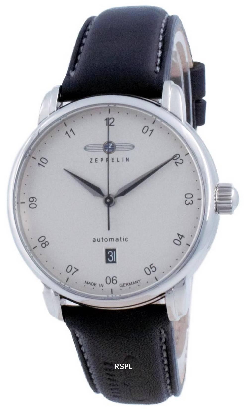 Zeppelin uuden kapteenin linjan hopeanvärinen automaattinen 8652-1 86521 miesten kello