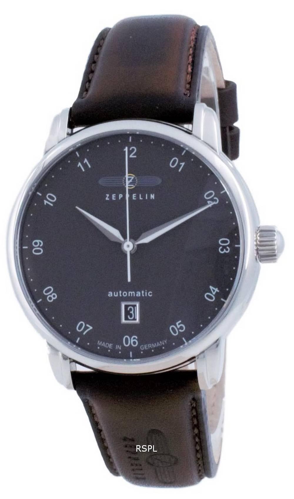 Zeppelin New Captain&#39,s Line Black Dial Automatic 8652-2 86522 miesten kello