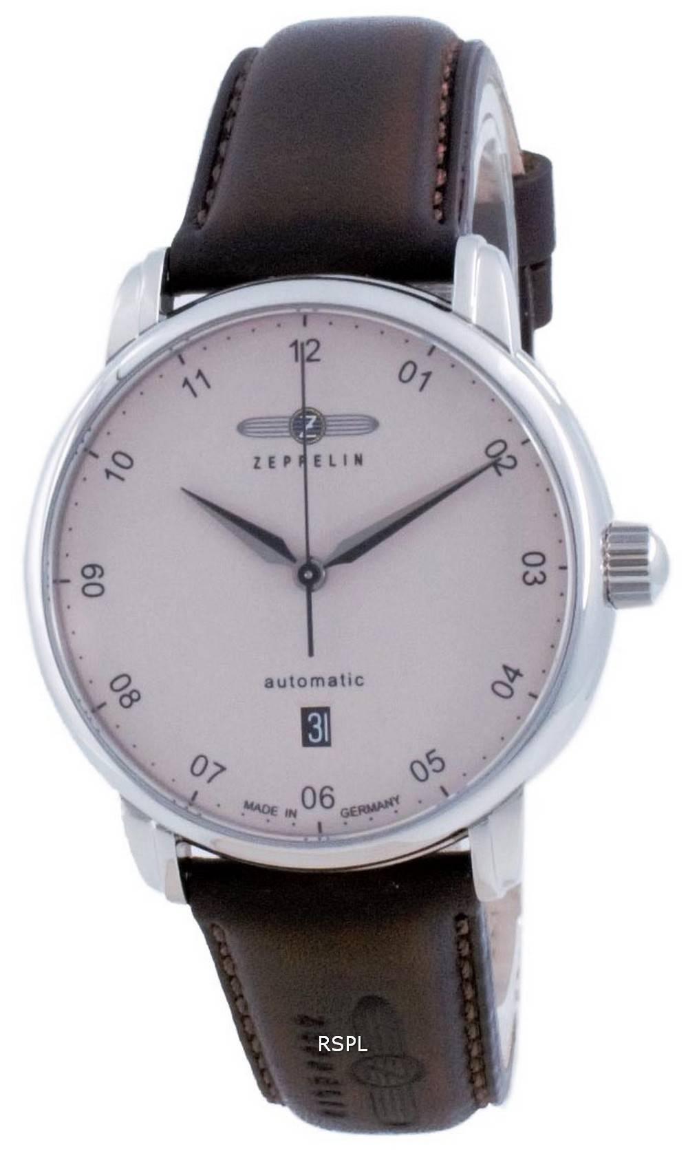 Zeppelin New Captain&#39,s Line Beige Dial Automatic 8652-5 86525 miesten kello